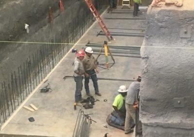 Concrete slab installation 3
