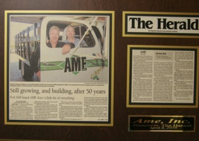 50 Year Anniversary celebrated by local newspaper