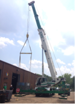 powerful construction crane