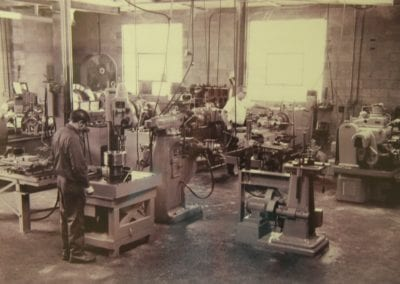 Old Machine shop – Clarence Kimbrell worked with AME for over 40 years before retiring in 2014.