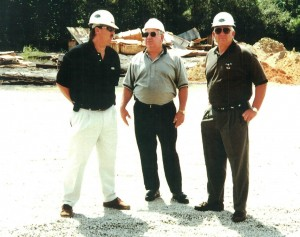 Gregg, Frank and Ronnie on a job site.