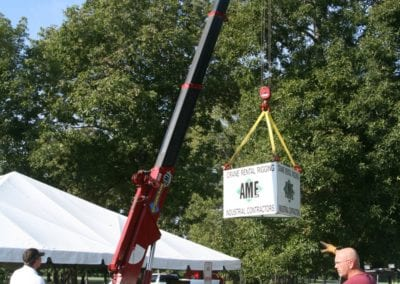 18th Annual Customer Appreciation Golf Outing featuring our Spider Mini Crane