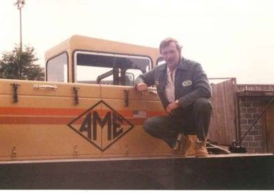 Oscar Harley operated AME's first 50 ton crane.